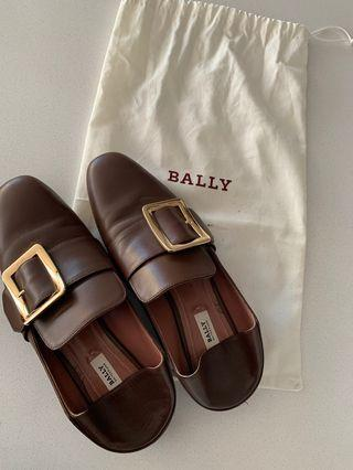 Bally loafers/WOMEN'S CALF LEATHER SLIPPER