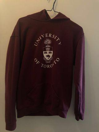UofT Unisex Crested Hoodie Size XL