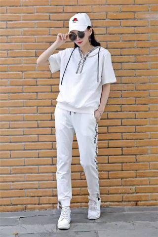 Clearance BN White Sporty Wear (Blouse+Pant) - A