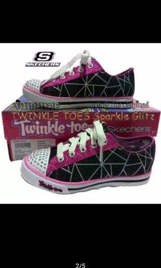 Skechers Twinkle Toes Size 34 NWT