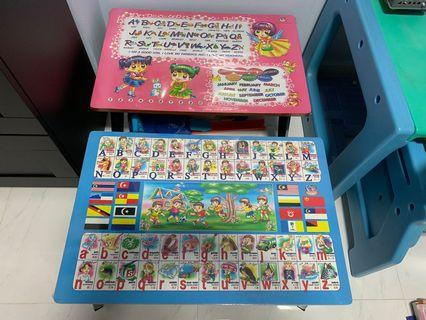 Children foldable table