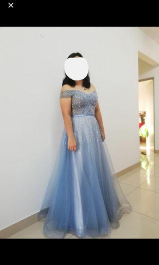 Cinderella Dress Gown Sparkling dinner Dress Prom Wedding Princess beads