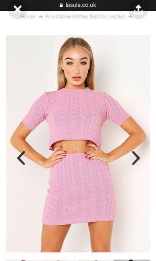 Pink knit set size 8-10