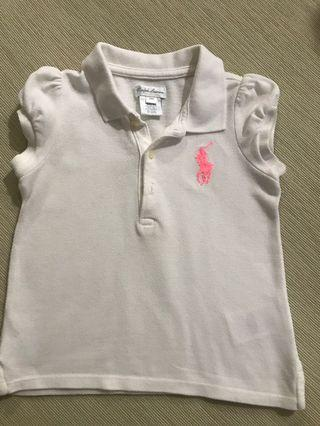 🚚 Almost New Authentic Ralph Lauren Polo Tee with Puff Sleeve