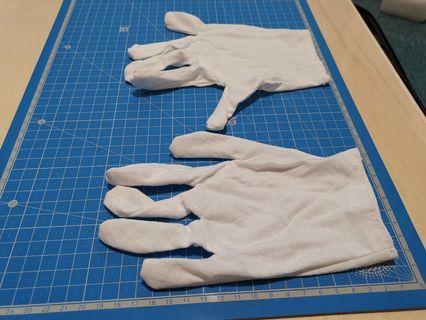白色綿手套
