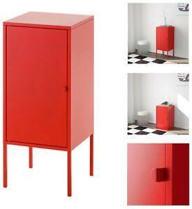 Ikea red side retro industrial table (brand new condition!)
