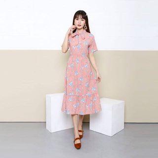 flowery dress korean