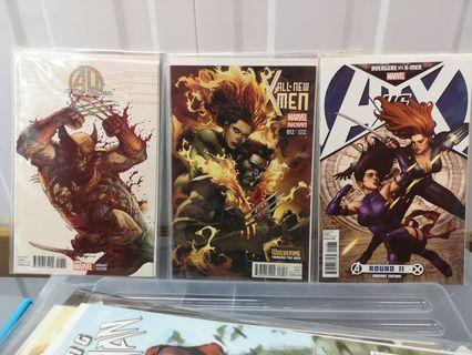 🚚 Age of Ultron #7, all new X-men #12, Avengers vs X-men #11 Leinil Francis Yu Variant Dark Phoenix Wolverine covers