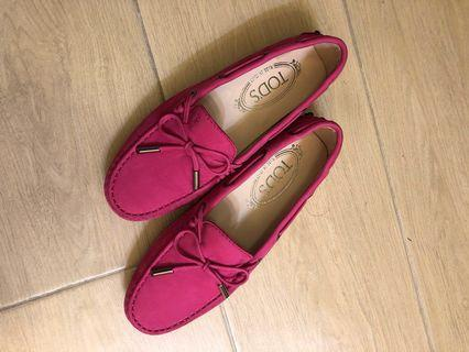 Tods loafers 桃紅 豆豆鞋 Size 34.5
