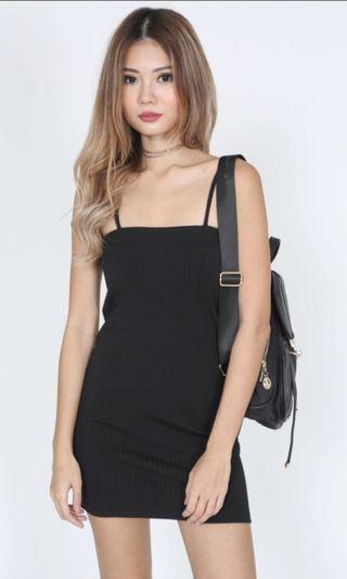 🚚 Casual Black Bodycon Dress