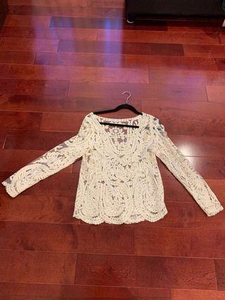 Lace Long-Sleeve Top
