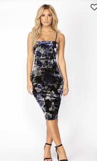 🚚 Floral Bodycon Dress