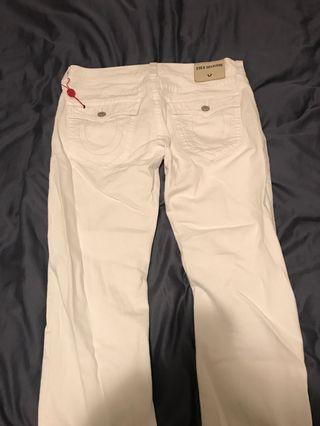 All white true religion jeans