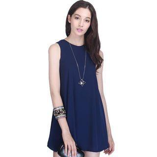 Fayth Brooke Shift Dress in Navy XS Size