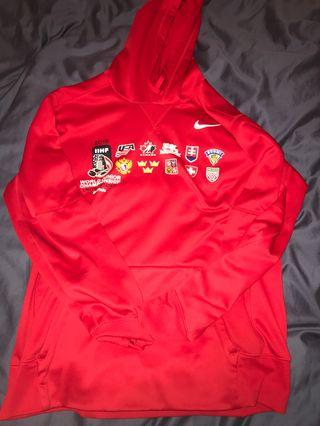 Red Nike, 2018 World juniors sweater