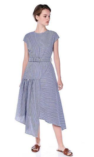 The Editor's Market TEM Mauricia Belted Midi Dress XS Size