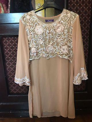 Nude Top with Detail Lace