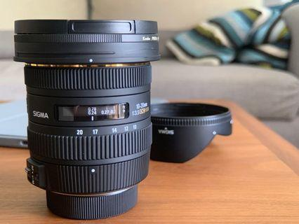 Sigma 10-20 mm f3.5 (Nikon cropped sensor, DX Mount)