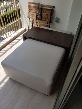 Ottoman & coffee table