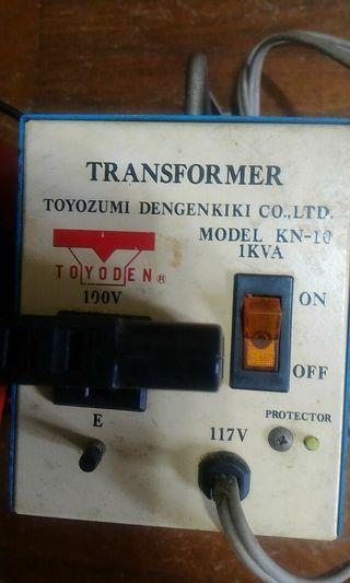 變壓器 117V to 100V, 110V to 220V