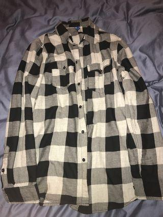 Checker button up