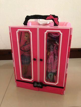 Barbie's closet with a car