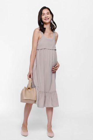 🚚 Violetta Ruffle Hem Dress in Cream