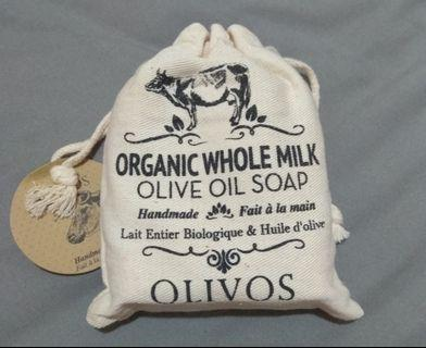 OLIVOS organic whole milk Olive Oil Soap 150g