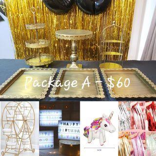 Gold Dessert Tray(Rental)