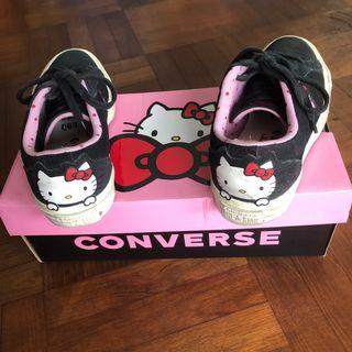 Authentic limited edition converse hello kitty
