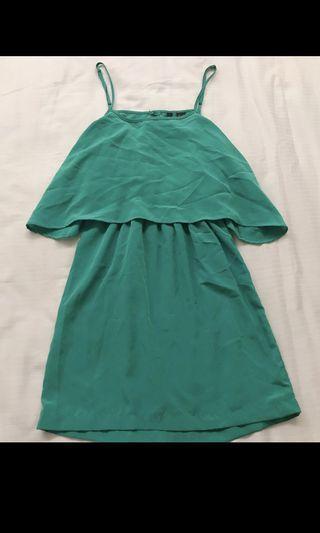 MANGO Dress Green