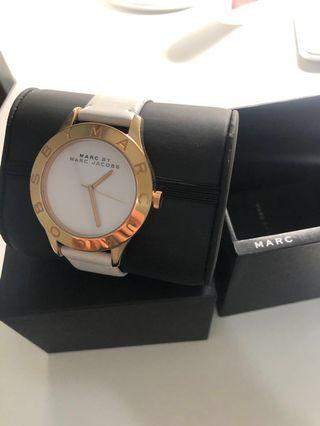 Marc Jacobs White and Rosegold Watch