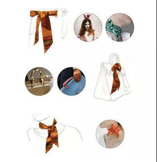Silk Scarf -Women's Hair,Neck Bag Handle and ties