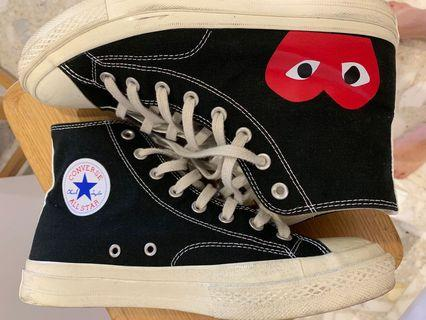 CDG Converse Highcut Black