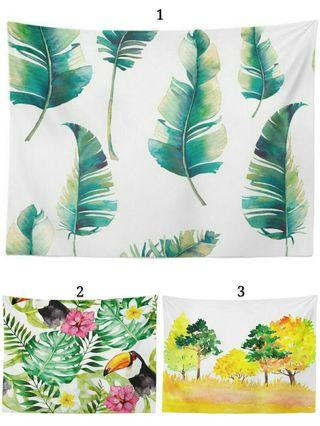 🚚 🌟PM for price🌟 🍀Green Plant Tapestry Wall Decorations🍀