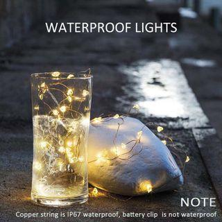 LED Battery Operated Copper Silver Wire String Fairy Lights