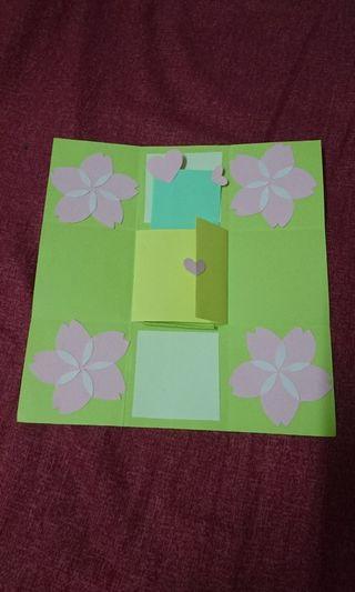 🚚 櫻花款禮物盒卡片