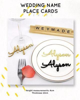 🚚 Cut out name place cards