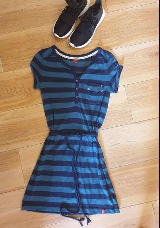 New Esprit EDC Stripe Cotton Dress