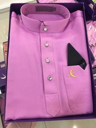 Baju Melayu Elrah Slim Fit - Dusty Purple