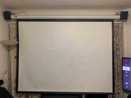 """100"""" 4:3 Electric Projector Screen with Remote. Automatic up / down."""
