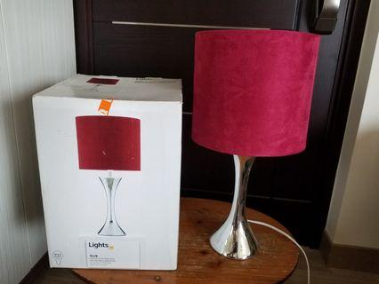 York Chrome touch table lamp