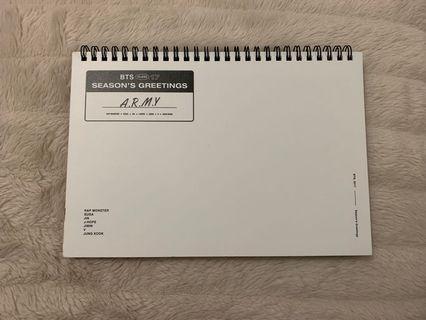 BTS Official SG 2017 Desk Calendar