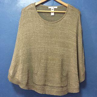 Preloved Forever21 Knitted Taupe Cape