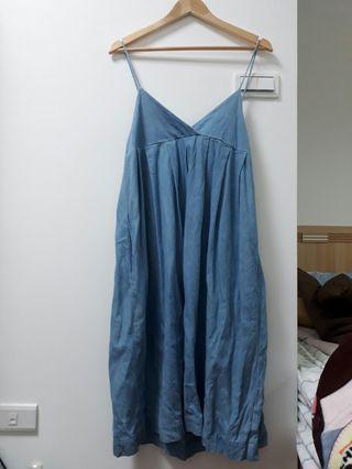 0_1 水洗細帶牛仔洋裝