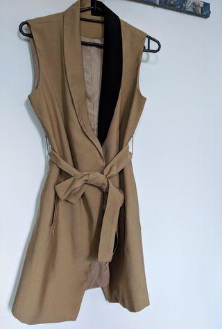 Vintage. Sleeveless. Blazer Coat.