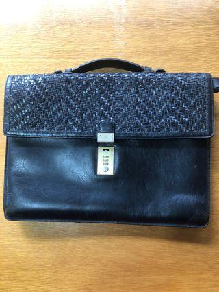 70's Bally Leather Brief Case