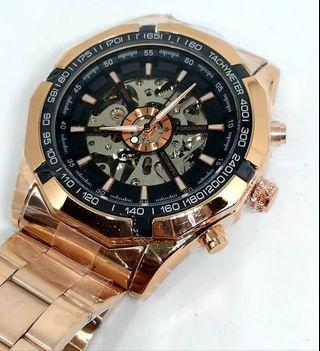 Jam tangan Forsining  Gold Automatic Skeleton ORI