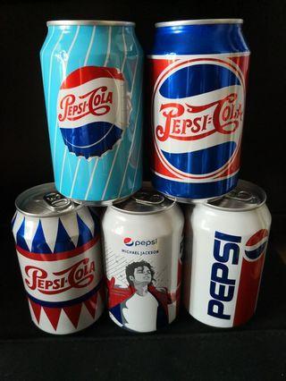 [全新滿水]百事可樂懷舊罐全套