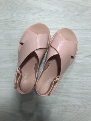 Preloved Zaxy Pink jelly sandals